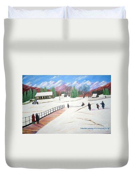 Kashmir Duvet Cover by Usha Rai