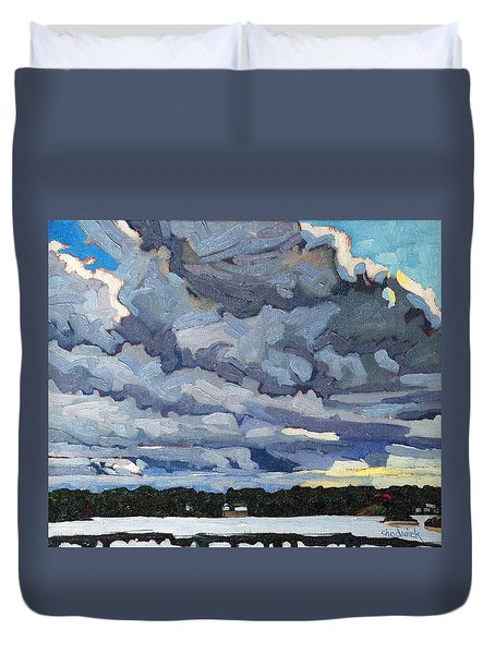 Katabatic Cold Front Duvet Cover by Phil Chadwick