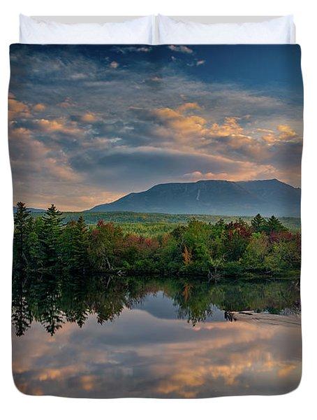 Katahdin Sunrise Duvet Cover