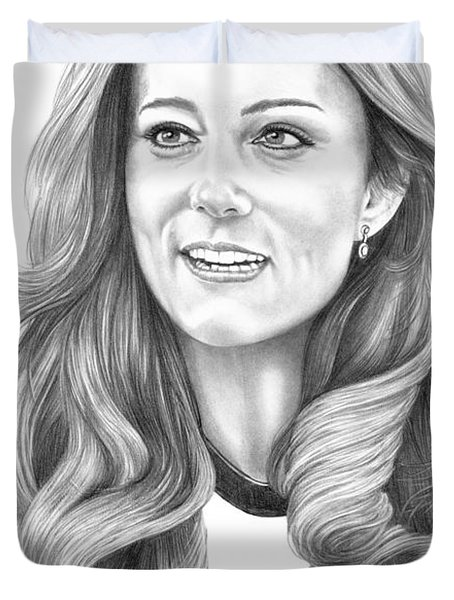 Kate Middleton Catherine Duchess Of Cambridge Duvet Cover by Murphy Elliott