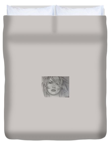 Kate Moss Fashion Model Duvet Cover