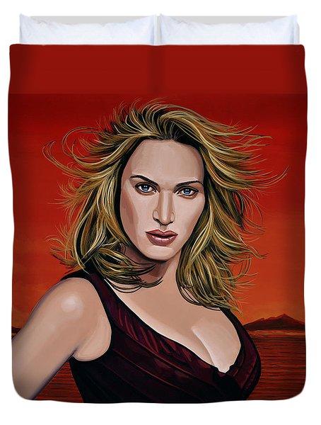 Kate Winslet Duvet Cover by Paul Meijering