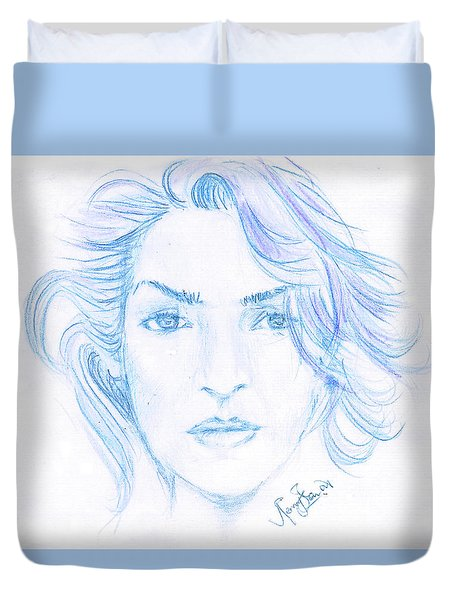Kate Winslet Duvet Cover by Remy Francis