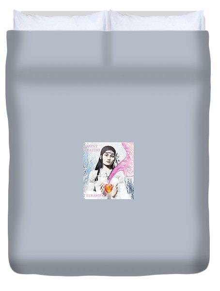Kateri Tekakwitha Valentine Image Duvet Cover