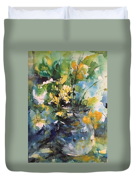Kathleen's Yellow Flowers Duvet Cover