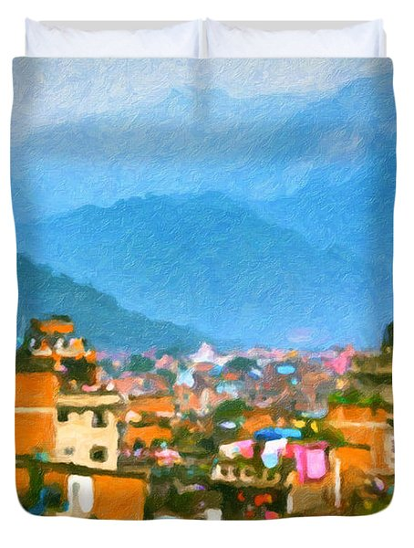 Kathmandu, Nepal Duvet Cover
