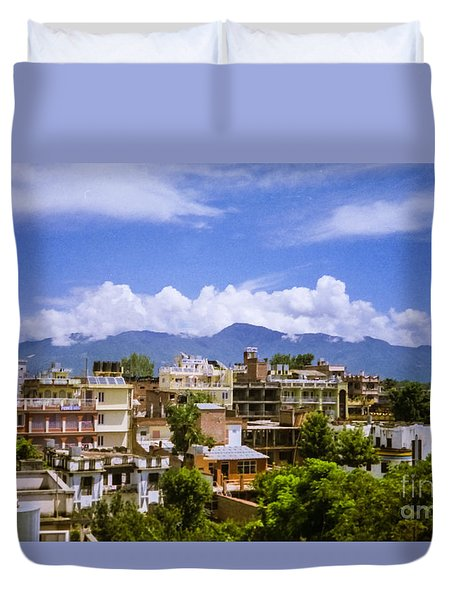 Duvet Cover featuring the photograph Kathmandu by Suzanne Luft