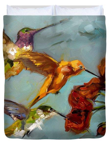 Kathy's Humming Birds Duvet Cover