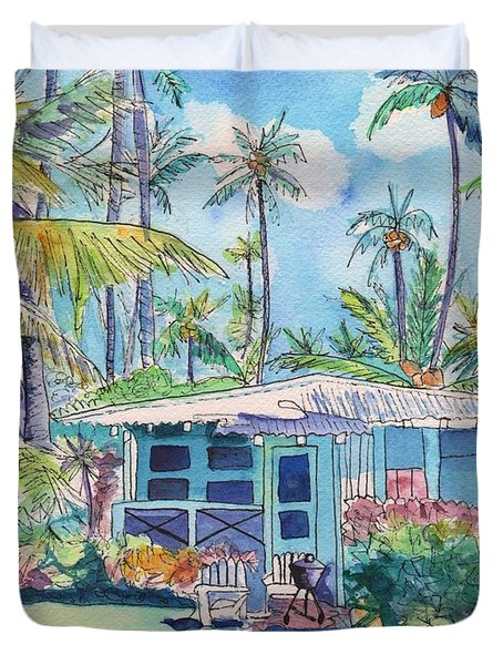 Kauai Blue Cottage 2 Duvet Cover
