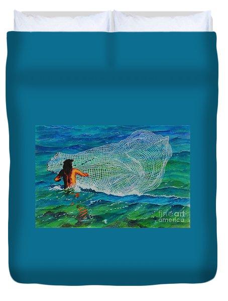Kauai Fisherman Duvet Cover
