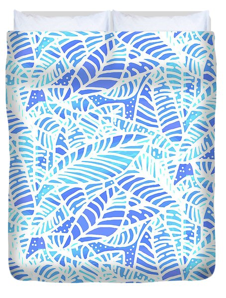 Kaua'i Ocean Leaves Duvet Cover