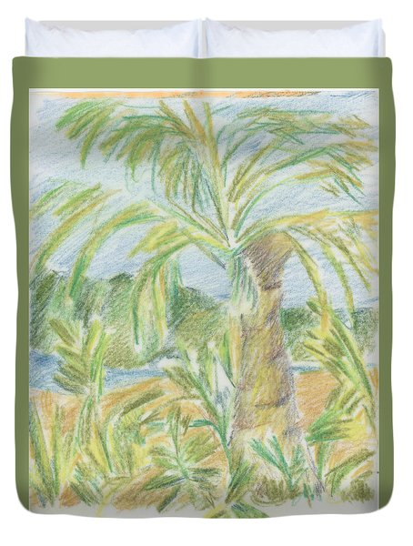 Kauai Palms Duvet Cover