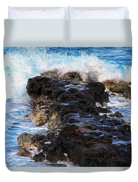 Kauai Rock Splash Duvet Cover
