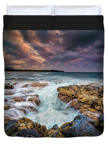 Kauai Ocean Rush Duvet Cover