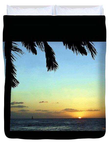 Kauai Sunset Duvet Cover by Ellen Henneke