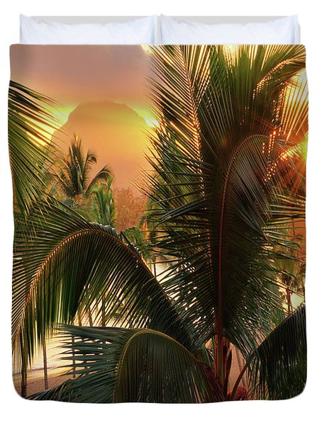 Olena Art Kauai Tropical Island View Duvet Cover