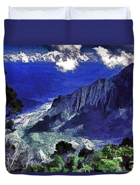 Kauai Valley Duvet Cover by Dennis Cox