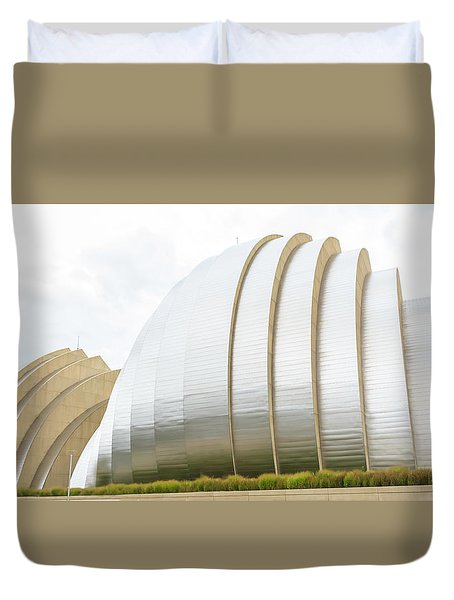 Kauffman Center Performing Arts Duvet Cover by Pamela Williams