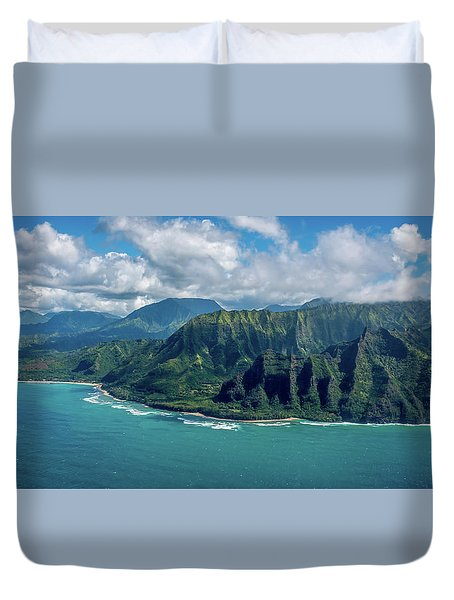 Kawaii Na Pali Coast  Duvet Cover