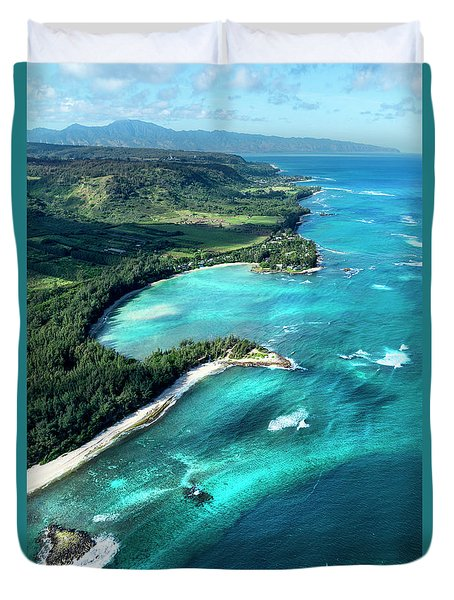 Kawela Bay, Looking West Duvet Cover