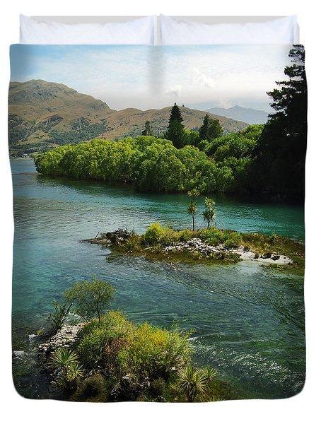 Kawerau River Duvet Cover by Kevin Smith