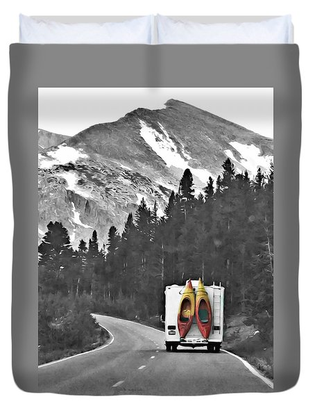 Kayak Adventure Duvet Cover