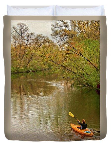 Kayak At Mead Duvet Cover