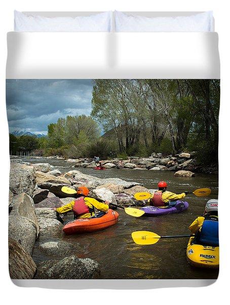 Kayaking Class Duvet Cover