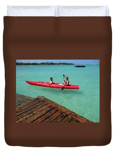 Kayaking Perfection 1 Duvet Cover