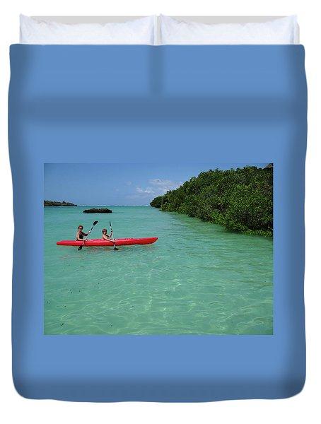 Kayaking Perfection 2 Duvet Cover