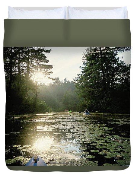 Kayaking Duvet Cover