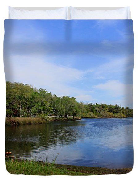 Kayaking The Cotee River Duvet Cover