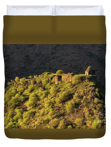 Kayan Fortress At Late Evening, Armenia Duvet Cover