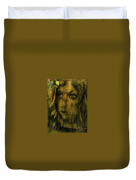 Duvet Cover featuring the digital art Kayleigh by Jim Vance
