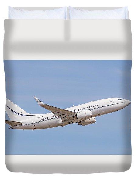 Kazakhstan Government Boeing 737 Duvet Cover