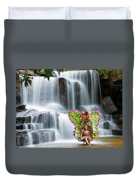 Kbal Chhay Waterfall  Duvet Cover