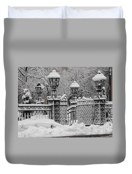 Kc Plaza Is Art In The Snow Duvet Cover