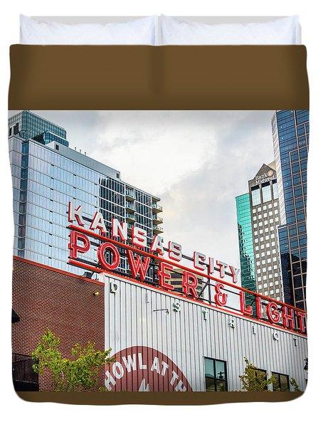 Kc Power And Light Duvet Cover by Pamela Williams