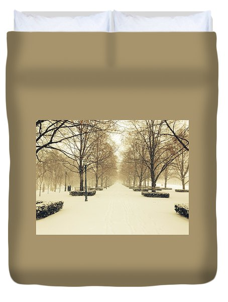 Kc Snow With Parisian Flare Duvet Cover
