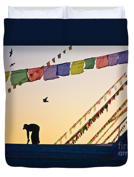 Kdu_nepal_d113 Duvet Cover by Craig Lovell
