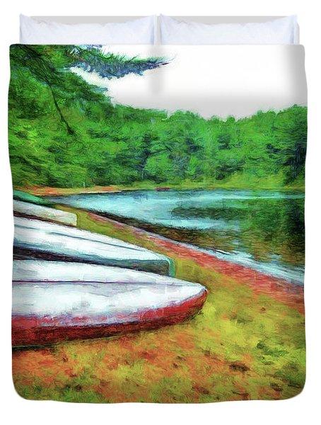 Kearney Lake Beach Duvet Cover