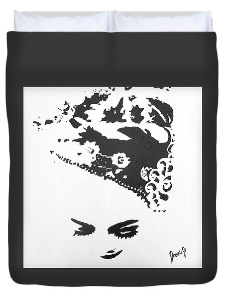Kebaya Headpiece Duvet Cover