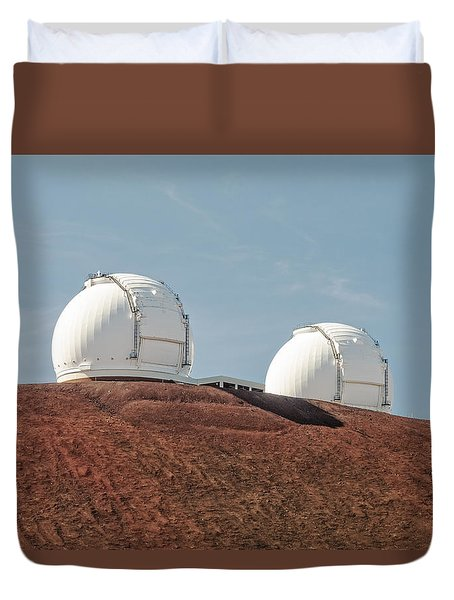 Duvet Cover featuring the photograph Keck 1 And Keck 2 by Jim Thompson