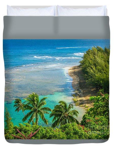 Kee Beach Kauai Duvet Cover