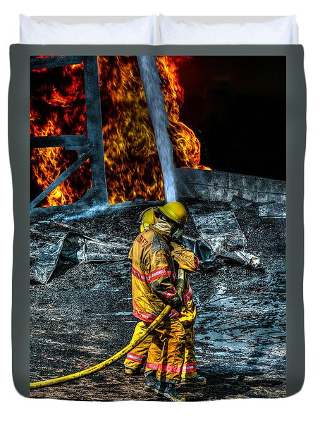 Keep Fire In Your Life No 8 Duvet Cover by Tommy Anderson