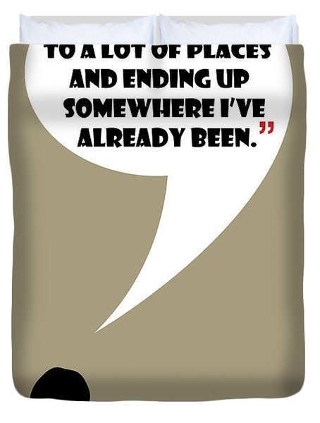 Keep Going Places - Mad Men Poster Don Draper Quote Duvet Cover