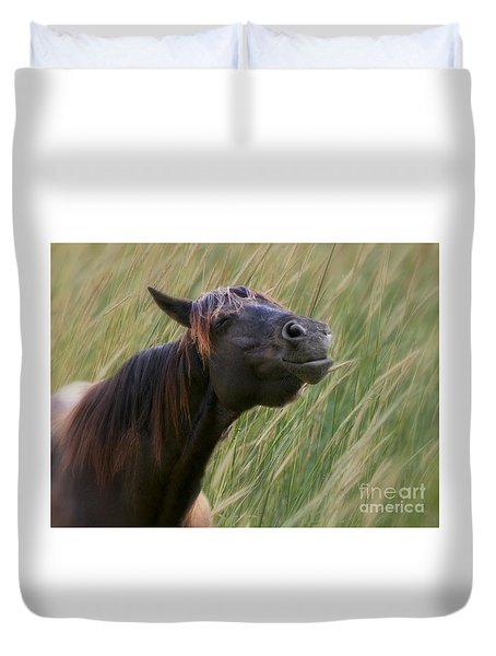 Keep On Smiling - Life Is Good Duvet Cover by Myrna Bradshaw