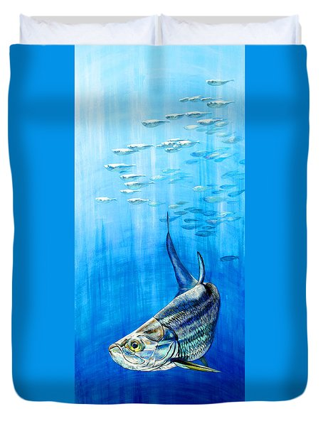 Tarpon Below Duvet Cover