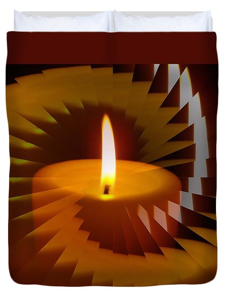 Keep The Flame Burning Duvet Cover by Skyler Tipton