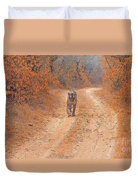 Keep Walking Duvet Cover by Pravine Chester